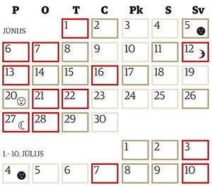 Copes dienu kalendārs